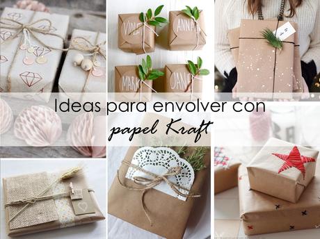 Ideas con papel kraft para envolver los regalos navide os for Ideas para envolver regalos