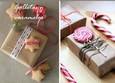 Ideas con papel kraft para envolver los regalos navide os - Envolver regalos con papel de seda ...