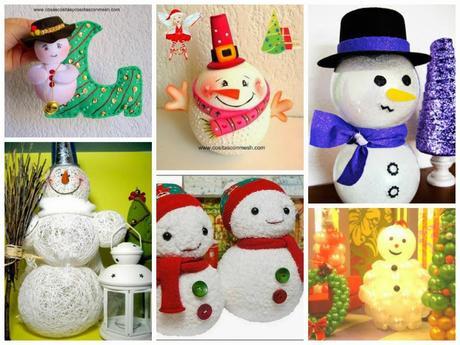Manualidades navide as con mu ecos de nieve paperblog - Manualidades navidenas paso a paso ...
