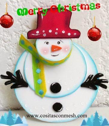 Manualidades navide as con mu ecos de nieve paperblog - Manualidades munecos de navidad ...