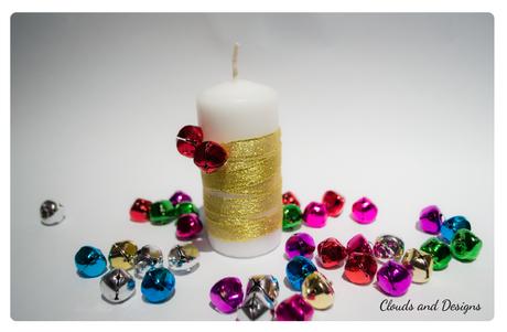 D a 11 3 velas decoradas para navidad paperblog - Velas decoradas para navidad ...