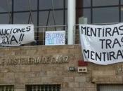 Juventudes Socialistas muestra apoyo trabajadores alumnos Escuela Hostelería Cádiz