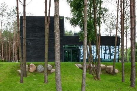 Casa minimalista en medio del bosque paperblog for Casa minimalista bosque