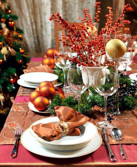 Como decorar la mesa de navidad fotos ilustrativas for Vajillas para navidad