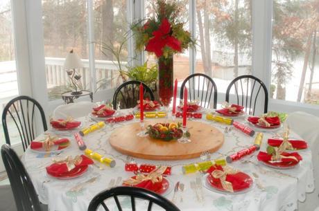 como decorar la mesa de navidad fotos