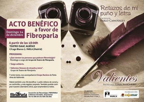 Acércate al espectáculo solidario de Fibroparla el 14 Diciembre