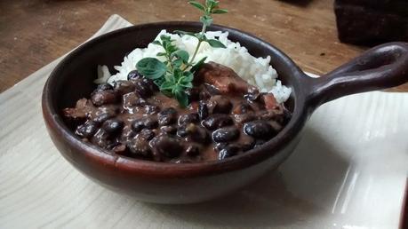 Feijoada - Plato típico brasileño ( porotos negros y arroz)