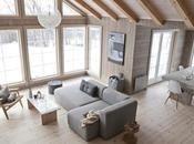 Invierno casa madera noruega