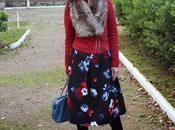 looks falda flores midi