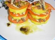 Milhojas patata tomate