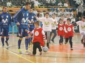 Inter Movistar cierra Gira Megacracks 2014 jugando futbol sala escolares Zamora