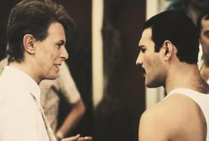David Bowie y Freddie Mercury