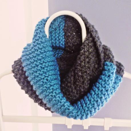Tutorial bufanda bicolor paperblog - Puntos para calcetar ...