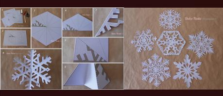 Copos de nieve de papel paperblog for Como adornar ventanas y puertas de navidad