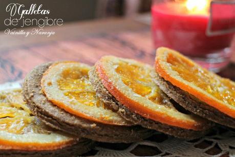 galletas de jengibre, vainilla y naranja