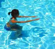 Image result for ejercicios en piscina sentadillas