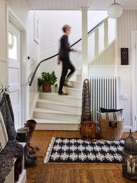 Una casa decorada en blanco y negro paperblog - Casas decoradas en blanco ...