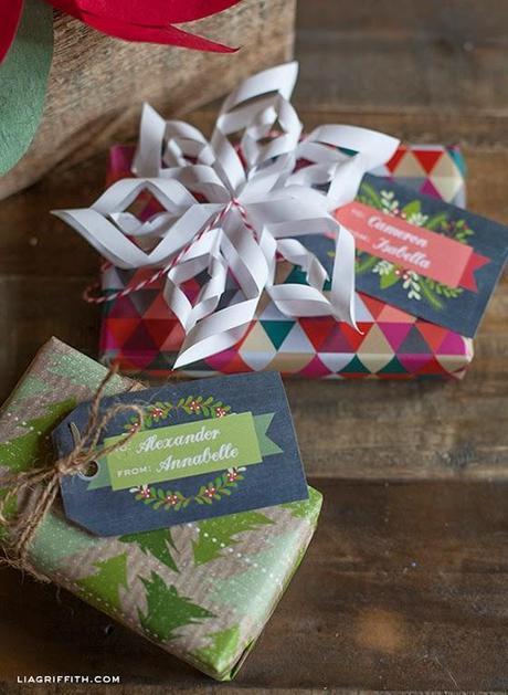 2262.- Etiquetas para los regalos de Navidad