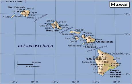 Ubicación geográfica de Hawái y su clima