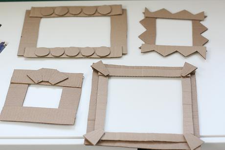 Cuadros reciclando carton paperblog - Ideas para enmarcar fotos ...