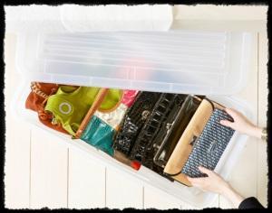 4 soluciones para mantener los bolsos ordenados paperblog - Como guardar los bolsos ...