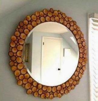 C mo decorar un espejo con madera paperblog - Como decorar un espejo ...