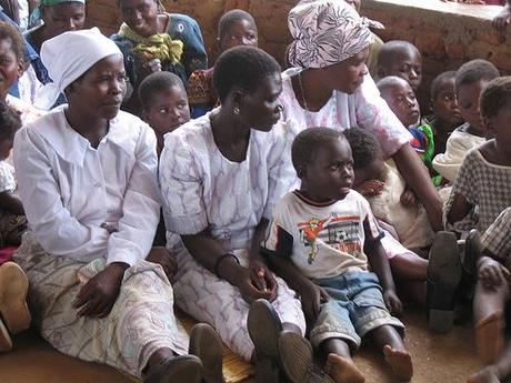 Women and Children at the Matanda Service por khym54.