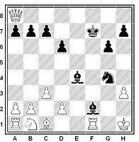 Posición final típica de ajedrez del mate de Blackburne