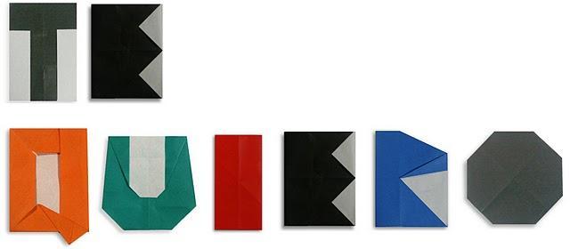 Regalos San Valentín IX: MEsaje con letras origami