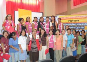 Presentan proyecto que promueve el empoderamiento de mujeres de base en el ejercicio de sus derechos fundamentales