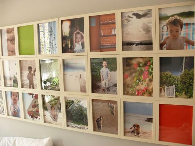 Otro cabecero con marcos de fotos paperblog - Fotos originales en casa ...