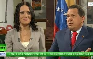 """Elena Rostova """"a solas"""" con Hugo Chávez"""