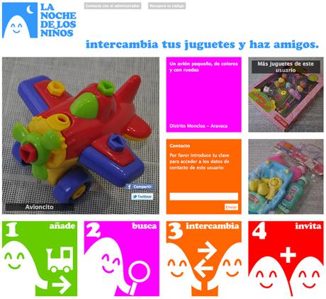 Trueque de juguetes – lanochedelosniños.org