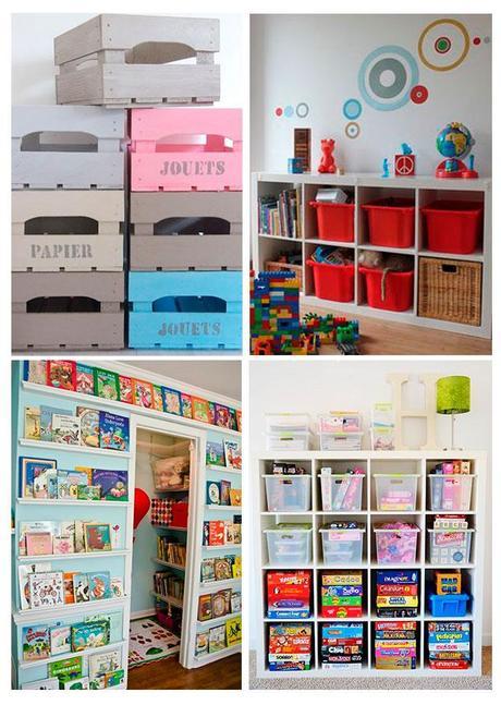 cuatro ideas para ordenar los juguetes