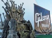 'Game Thrones': Gibson construye trono hierro base guitarras