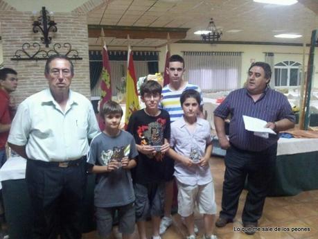 Daniel Motos en el Campeonato Regional de Ajedrez Rapido (Campeón sub 12)