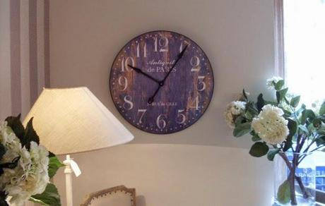 Decorar con relojes de estilo vintage paperblog for Reloj pared estilo industrial
