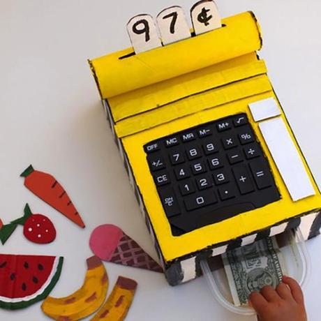 Tutorial para hacer una caja registradora de juguete con for Como hacer una cocina de carton