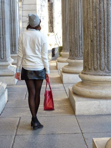 Mi basico este invierno es la falda de cuero