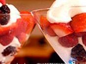 Postres fresas yogurt para diabeticos