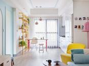 Apartamento fresco colorido toque mid-century modern