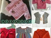 Cardigans para bebés crochet