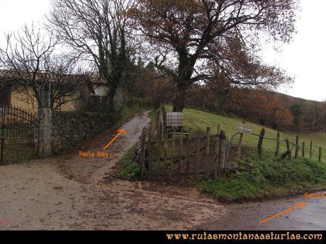 Ruta Xanas, Valdolayés, Peña Rey: Desvío para Peña Rey de la Senda de Valdolayés