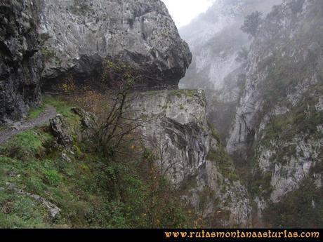 Ruta Xanas, Valdolayés, Peña Rey: Último tramo del desfiladero de las Xanas