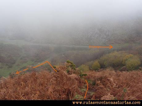 Ruta Xanas, Valdolayés, Peña Rey: Cruce de Peña Rey con la Senda Valdolayés