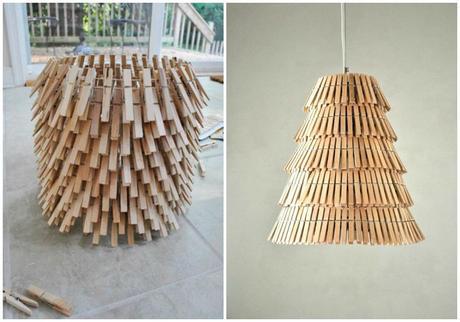 Diy con pinzas paperblog - Como hacer lamparas de pie ...