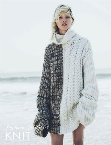 Fashion editorial: knit