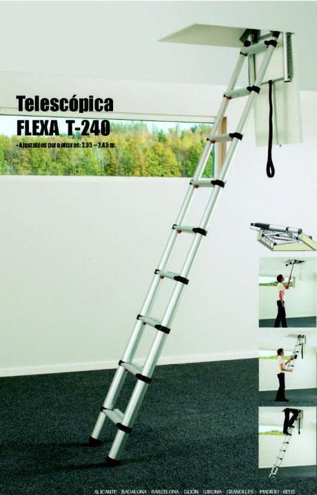 Escaleras plegables 5 modelos para altillos paperblog for Escaleras plegables de aluminio para altillos