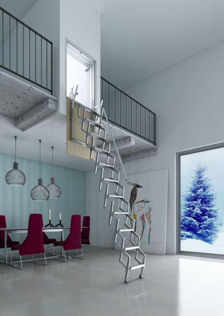Escaleras plegables 5 modelos para altillos paperblog for Modelos de escaleras