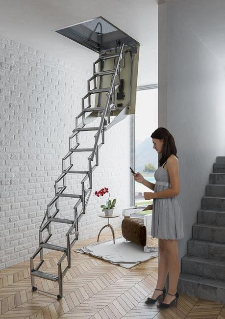 Escaleras plegables 5 Modelos para altillos - Paperblog